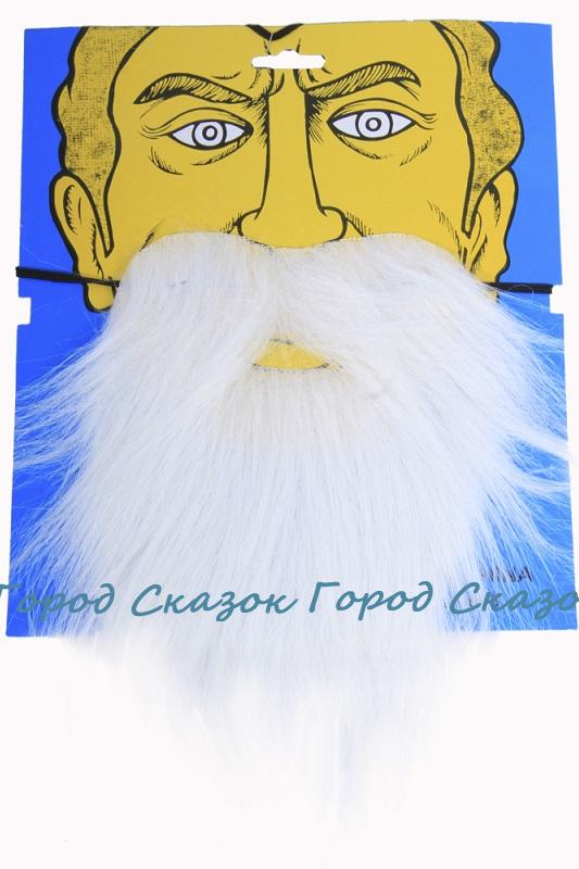Набор усы и борода (белые)