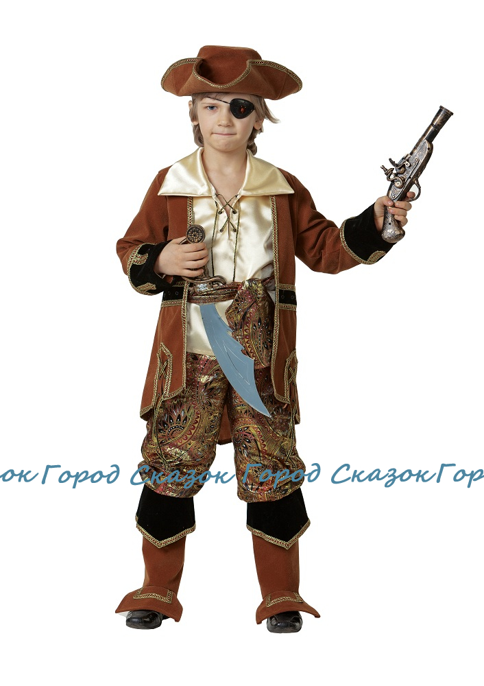 Капитан пиратов коричневый