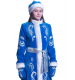 Снегурочка длинная приталенная бархат Х/Б с вышивкой