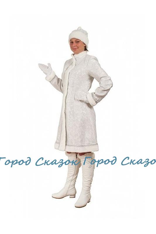 Костюм Снегурочки Классический сантун белый